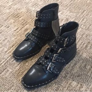 Forever 21 Studded Strappy Moto Boots Sz 8